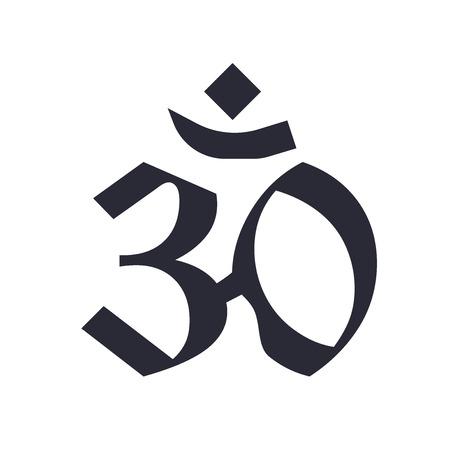 Pranava OM icona vettoriale isolato su sfondo bianco per il vostro web e progettazione mobile app, concetto di logo Pranava OM