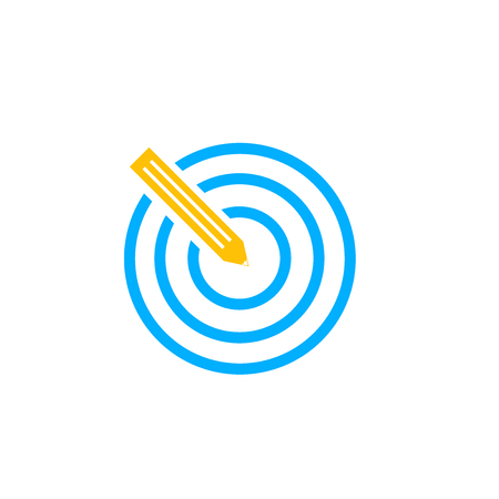 Target icon vector isolated on white background for your web and mobile app design, Target logo concept