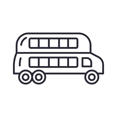 Double decker bus icon vector isolated on white background for your web and mobile app design, Double decker bus logo concept