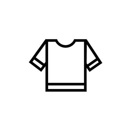 Referee striped sportive t shirt icon vector isolated on white background for your web and mobile app design, Referee striped sportive t shirt logo concept Ilustrace