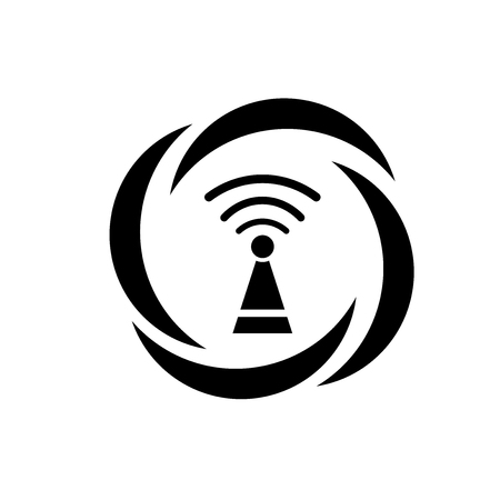 Wireless icon vector isolated on white background for your web and mobile app design, Wireless logo concept