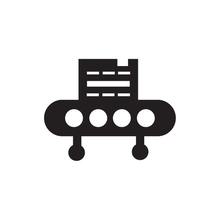 Conveyor icon vector isolated on white background for your web and mobile app design, Conveyor logo concept