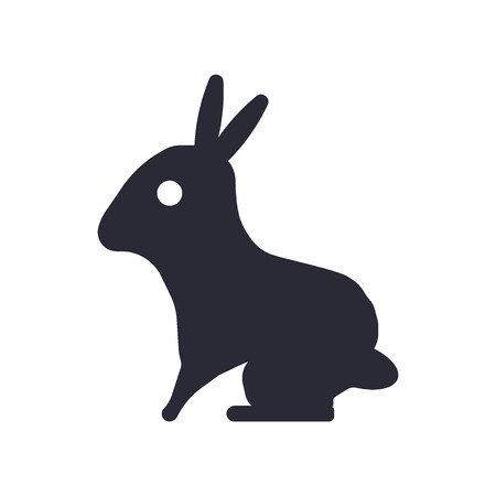 Sitting Rabbit icon vector isolated on white background for your web and mobile app design, Sitting Rabbit logo concept Vectores