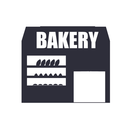 Bakery icon vector isolated on white background for your web and mobile app design, Bakery logo concept