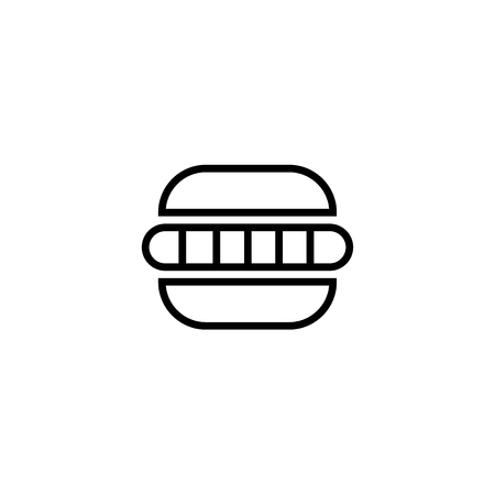 Hamburger icon vector isolated on white background for your web and mobile app design, Hamburger logo concept
