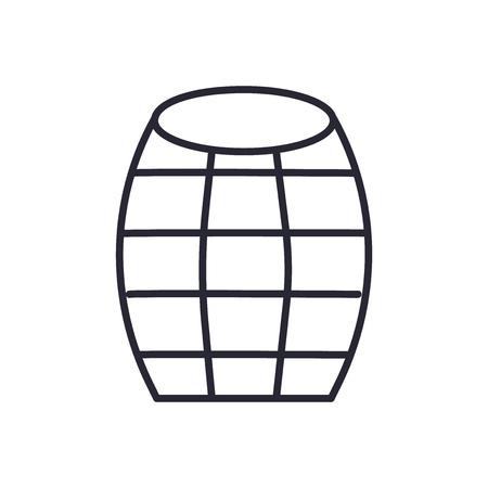Vector icono de barril aislado sobre fondo blanco para su diseño web y aplicaciones móviles, concepto de logo de barril