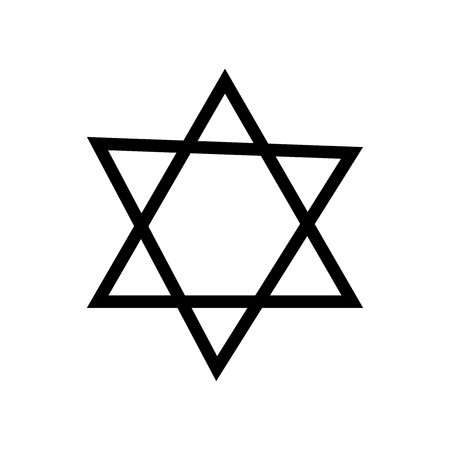 Israel Star of David icon vector isolated on white background for your web and mobile app design, Israel Star of David logo concept Ilustração