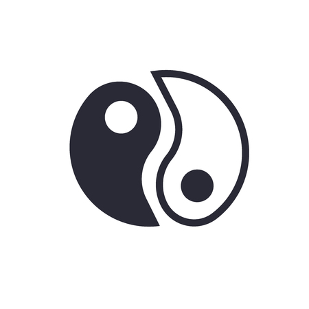 Yin Yang symbol icon vector isolated on white background for your web and mobile app design, Yin Yang symbol logo concept Illustration