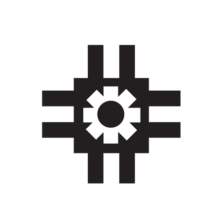 Gears icon vector isolated on white background for your web and mobile app design, Gears logo concept Stock Illustratie