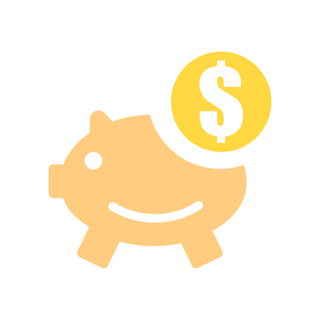 Piggy bank icon vector isolated on white background for your web and mobile app design, Piggy bank logo concept