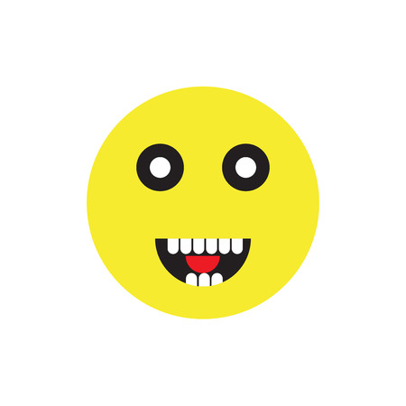 Smile icon isolated on white background for your web and mobile app design Illustration