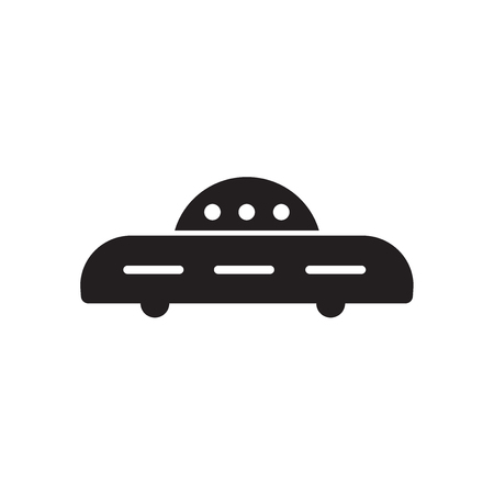 Ovni military transport icon isolated on white background for your web and mobile app design Ilustrace