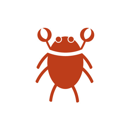 Crab icon isolated on white background for your web and mobile app design