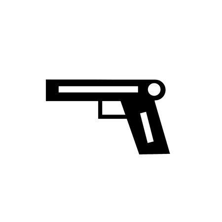 Pistol icon vector isolated on white background for your web and mobile app design, Pistol logo concept