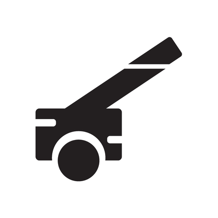 Cannon icon isolated on white background for your web and mobile app design