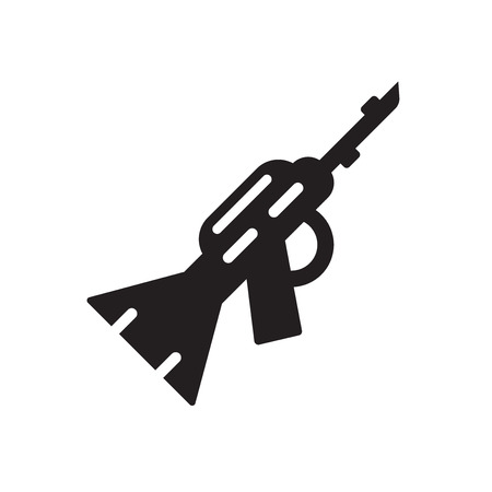 Rifle icon isolated on white background for your web and mobile app design 矢量图像