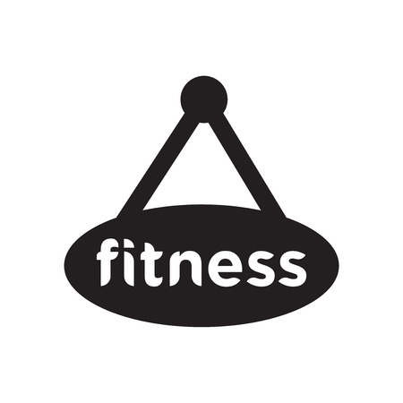 Gym icon isolated on white background for your web and mobile app design