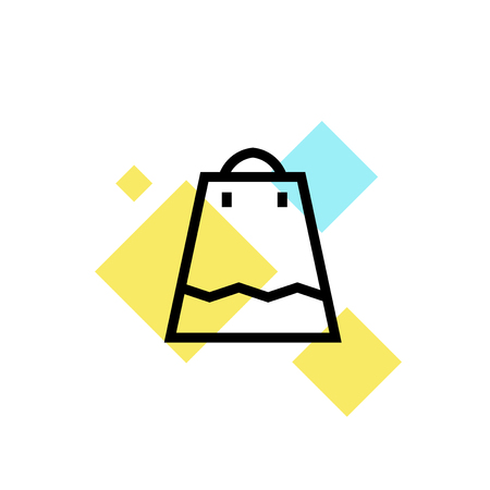 Bag icon vector isolated on white background for your web and mobile app design, Bag logo concept