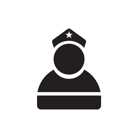 Militar icon isolated on white background for your web and mobile app design