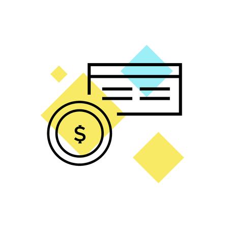 Vecteur d'icône de facture isolé sur fond blanc pour la conception de votre application web et mobile, concept de logo de facture