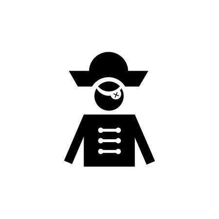 Pirate icon vector isolated on white background for your web and mobile app design, Pirate logo concept Ilustração