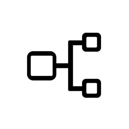 Symbol für hierarchische Struktur isoliert auf weißem Hintergrund für Ihr Web- und Mobile-App-Design