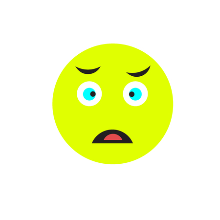 Sad icon vector isolated on white background for your web and mobile app design, Sad logo concept