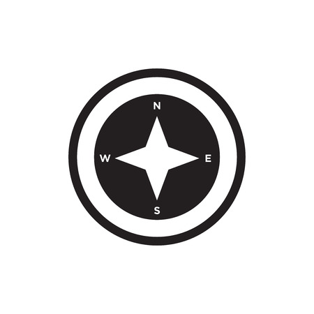 Cardinal points on winds star symbol icon isolated on white background for your web and mobile app design