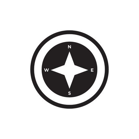 Points cardinaux sur l'icône de symbole étoile des vents isolé sur fond blanc pour la conception de votre application web et mobile