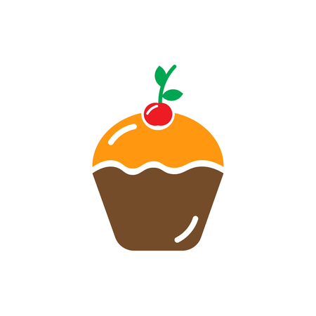 Muffin icon isolated on white background for your web and mobile app design