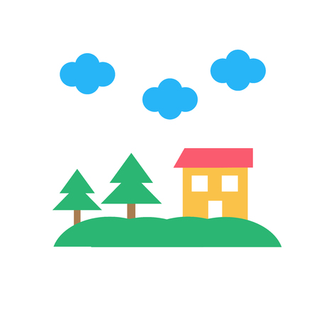 House icon vector isolated on white background for your web and mobile app design, House logo concept Vettoriali