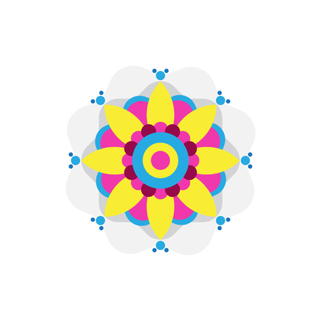 Rangoli icon vector isolated on white background for your web and mobile app design, Rangoli logo concept Illustration