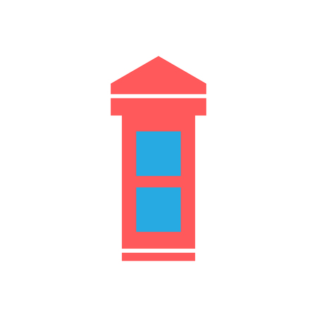 Phone box icon vector isolated on white background for your web and mobile app design, Phone box logo concept