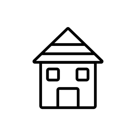 Home icon isolated on white background for your web and mobile app design 向量圖像