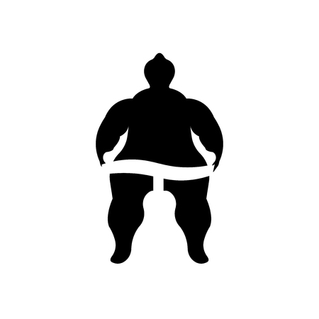 Sumo fighter icon vector isolated on white background for your web and mobile app design, Sumo fighter logo concept Vettoriali