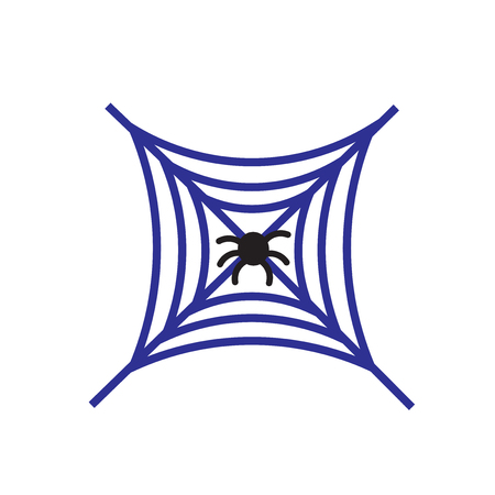 Spider icon vector isolated on white background for your web and mobile app design, Spider logo concept Ilustração