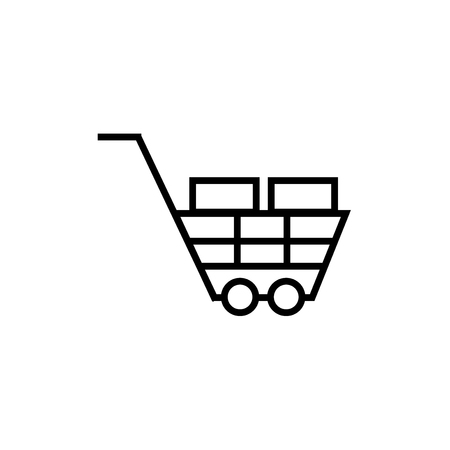 Shopping cart icon vector isolated on white background for your web and mobile app design, Shopping cart logo concept