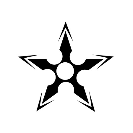 Japanese Shuriken icon vector isolated on white background for your web and mobile app design, Japanese Shuriken logo concept Vectores