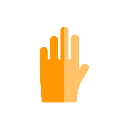 Hand icon vector isolated on white background for your web and mobile app design, Hand logo concept Illustration