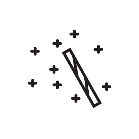Wand icon isolated on white background for your web and mobile app design
