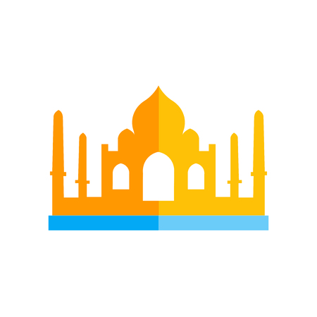 Taj mahal icon vector isolated on white background for your web and mobile app design, Taj mahal logo concept