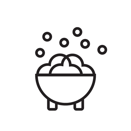 Cauldron icon isolated on white background for your web and mobile app design