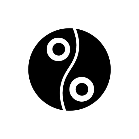 Yin yang icon vector isolated on white background for your web and mobile app design, Yin yang logo concept Çizim