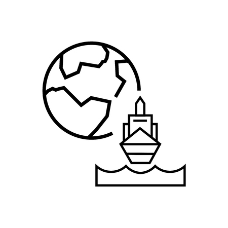 Ship icon vector isolated on white background for your web and mobile app design, Ship logo concept Vectores