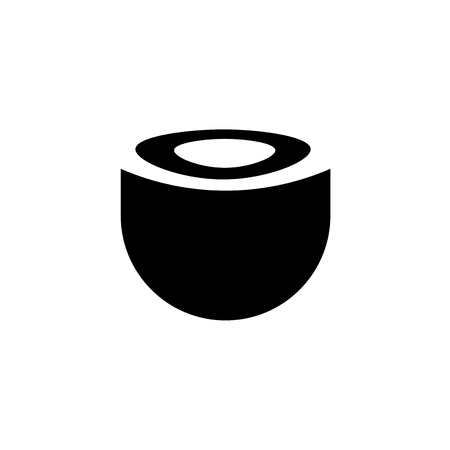 empty bowl icon vector isolated on white background for your web and mobile app design, empty bowl logo concept