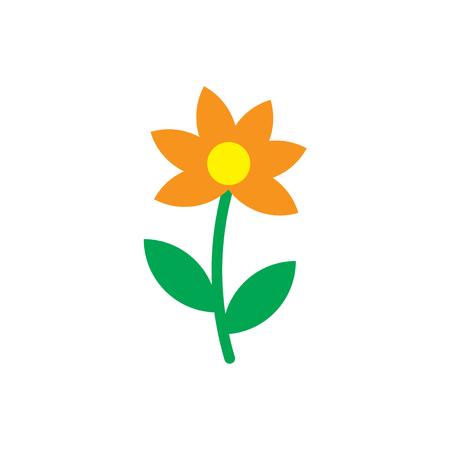 Sunflower icon vector isolated on white background for your web and mobile app design, Sunflower logo concept Illustration