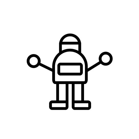 Robot icon isolated on white background for your web and mobile app design Illustration