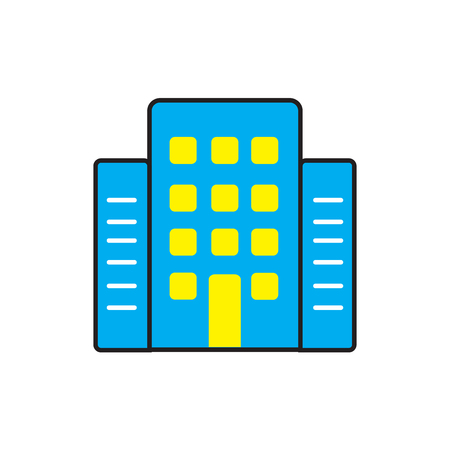 Hotel icon isolated on white background for your web and mobile app design Illustration