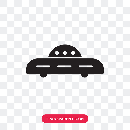 Ovni military transport vector icon isolated on transparent background, Ovni military transport logo concept Ilustrace