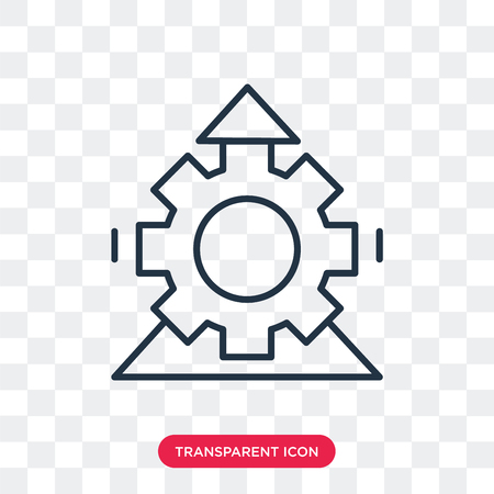 Edit tools vector icon isolated on transparent background, Edit tools logo concept Vettoriali